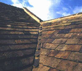Large slates need mitred valleys in this case a chevron type